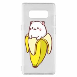 Чехол для Samsung Note 8 Cat and Banana