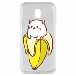 Чехол для Samsung J3 2017 Cat and Banana