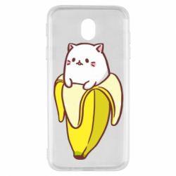 Чехол для Samsung J7 2017 Cat and Banana