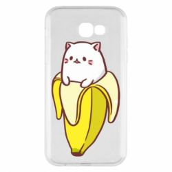 Чехол для Samsung A7 2017 Cat and Banana