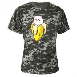 Камуфляжная футболка Cat and Banana