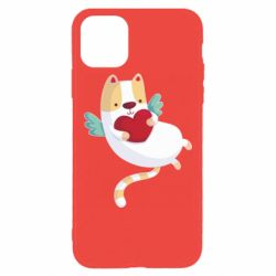 Чохол для iPhone 11 Pro Max Cat and heart