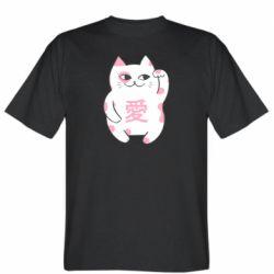 Мужская футболка Cat and hieroglyphs