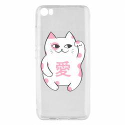 Чехол для Xiaomi Mi5/Mi5 Pro Cat and hieroglyphs