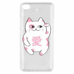 Чехол для Xiaomi Mi 5s Cat and hieroglyphs