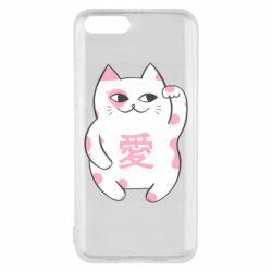Чехол для Xiaomi Mi6 Cat and hieroglyphs