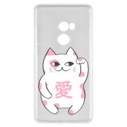 Чехол для Xiaomi Mi Mix 2 Cat and hieroglyphs