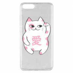 Чехол для Xiaomi Mi Note 3 Cat and hieroglyphs