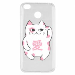 Чехол для Xiaomi Redmi 4x Cat and hieroglyphs