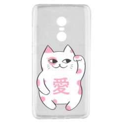 Чехол для Xiaomi Redmi Note 4 Cat and hieroglyphs