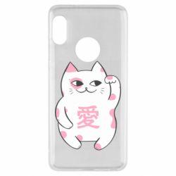 Чехол для Xiaomi Redmi Note 5 Cat and hieroglyphs