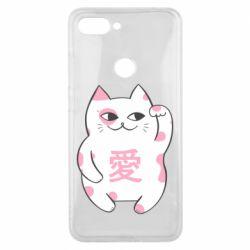 Чехол для Xiaomi Mi8 Lite Cat and hieroglyphs