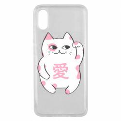 Чехол для Xiaomi Mi8 Pro Cat and hieroglyphs