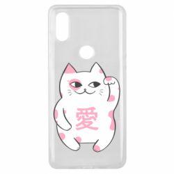 Чехол для Xiaomi Mi Mix 3 Cat and hieroglyphs