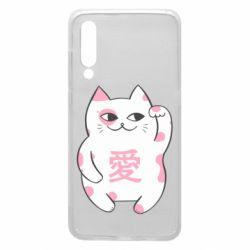 Чехол для Xiaomi Mi9 Cat and hieroglyphs