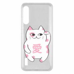 Чохол для Xiaomi Mi A3 Cat and hieroglyphs