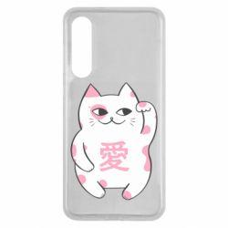 Чехол для Xiaomi Mi9 SE Cat and hieroglyphs