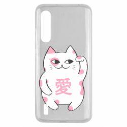 Чехол для Xiaomi Mi9 Lite Cat and hieroglyphs