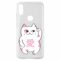 Чехол для Xiaomi Mi Play Cat and hieroglyphs