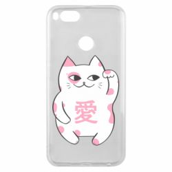 Чехол для Xiaomi Mi A1 Cat and hieroglyphs