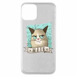 Чехол для iPhone 11 Cat and Math