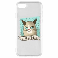 Чехол для iPhone 7 Cat and Math