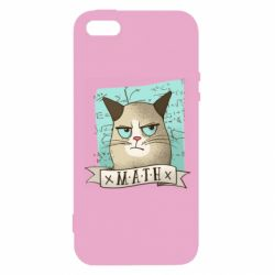 Чехол для iPhone5/5S/SE Cat and Math