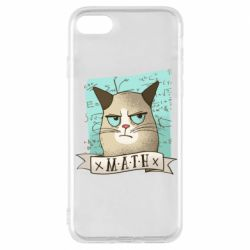Чехол для iPhone 8 Cat and Math