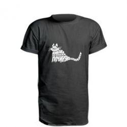 Подовжена футболка Cat Begemot