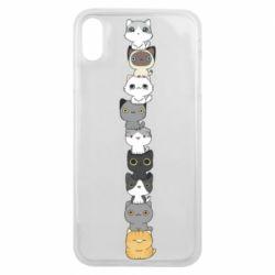 Чехол для iPhone Xs Max Cat breeds
