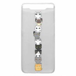 Чехол для Samsung A80 Cat breeds
