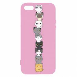 Чехол для iPhone5/5S/SE Cat breeds