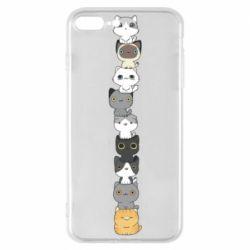 Чехол для iPhone 8 Plus Cat breeds