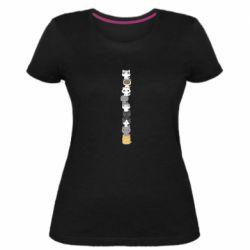 Женская стрейчевая футболка Cat breeds