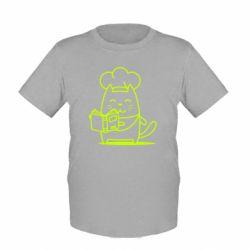 Дитяча футболка Cat cook