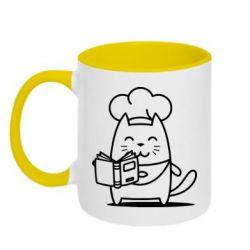 Кружка двухцветная Cat cook