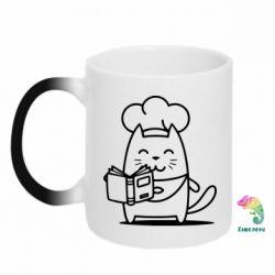 Кружка-хамелеон Cat cook