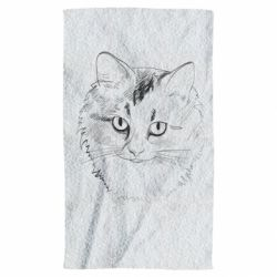 Полотенце Cat drawing digital brush