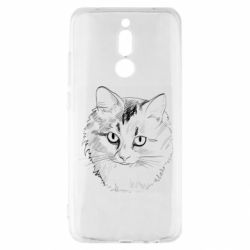 Чехол для Xiaomi Redmi 8 Cat drawing digital brush