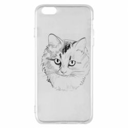 Чехол для iPhone 6 Plus/6S Plus Cat drawing digital brush
