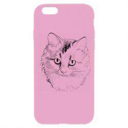 Чехол для iPhone 6/6S Cat drawing digital brush