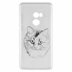 Чехол для Xiaomi Mi Mix 2 Cat drawing digital brush