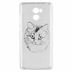 Чехол для Xiaomi Redmi 4 Cat drawing digital brush