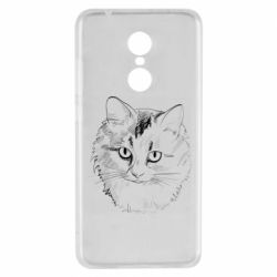 Чехол для Xiaomi Redmi 5 Cat drawing digital brush