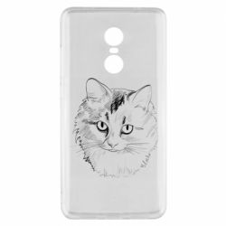 Чехол для Xiaomi Redmi Note 4x Cat drawing digital brush
