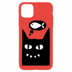 Чехол для iPhone 11 Cat dreams of a fish