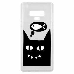 Чехол для Samsung Note 9 Cat dreams of a fish