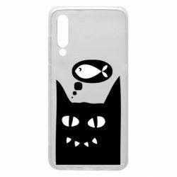 Чехол для Xiaomi Mi9 Cat dreams of a fish