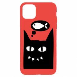 Чехол для iPhone 11 Pro Max Cat dreams of a fish