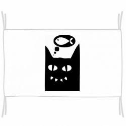 Флаг Cat dreams of a fish